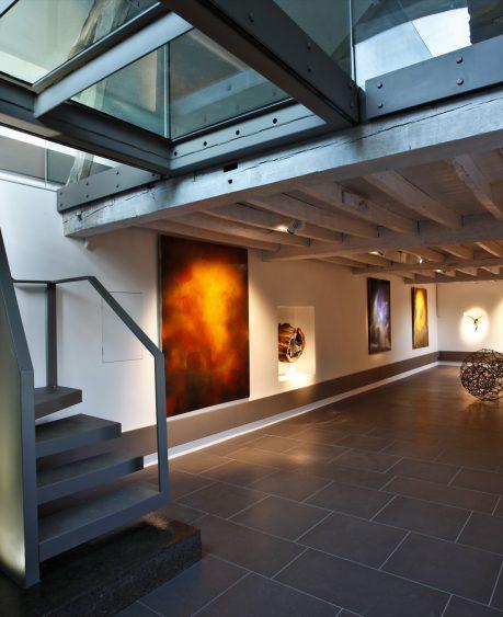 Canwood Gallery ceramic floor and glass bridge