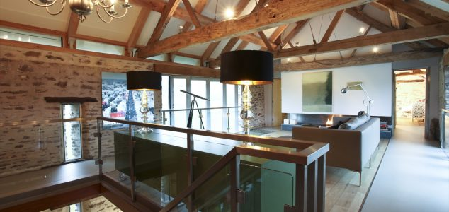 Grand Designs House, Hillcott Barn, Living