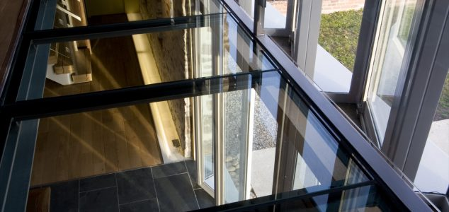 Grand Designs House, Hillcott Barn, glass floor