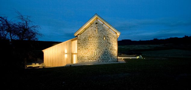 Grand Designs House, Hillcott Barn, gable wall