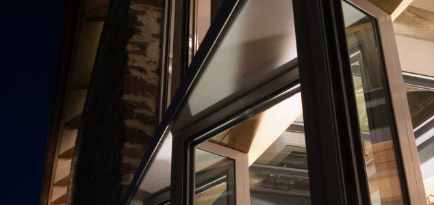 Grand Designs House, Hillcott Barn, threshing window